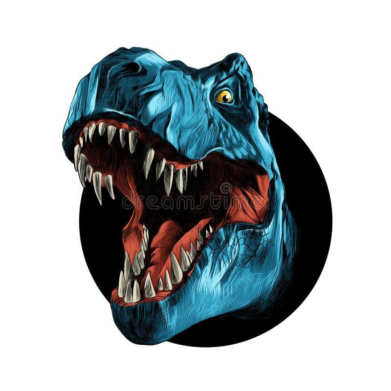 Tiranosaurio principal del dinosaurio stock de ilustración