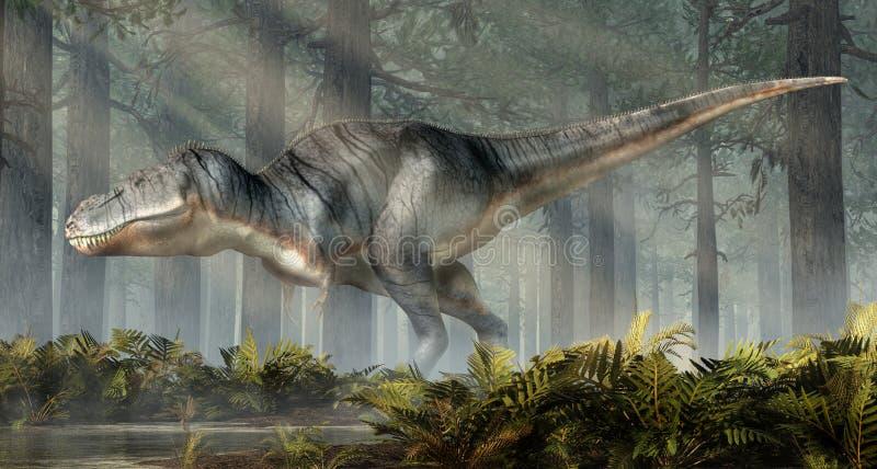 Tiranosaurio Rex en un bosque libre illustration