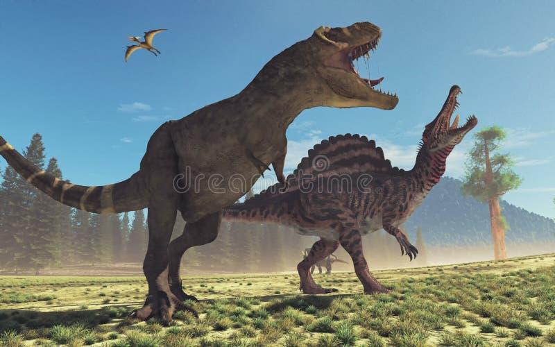 Tiranosaurio Rex Esto es un 3d rinde stock de ilustración