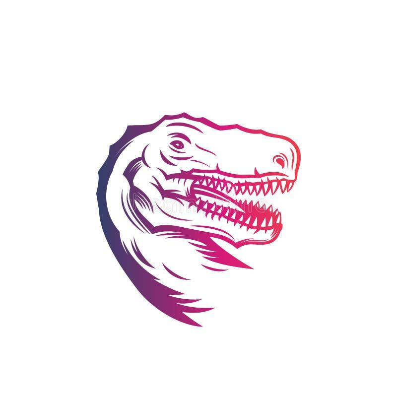 Tiranosaurio Rex, jefe de T rex, esquema del vector libre illustration