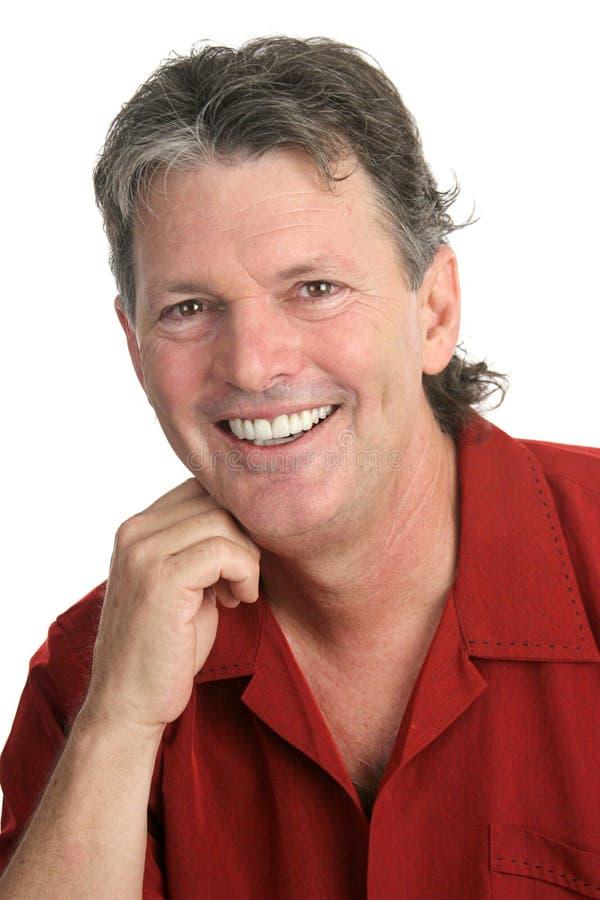 Tirante casuale - perfezioni il sorriso immagini stock libere da diritti