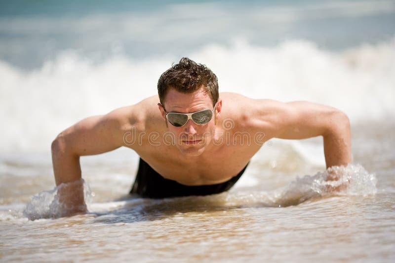 Tirante che si alza dalla spiaggia fotografie stock
