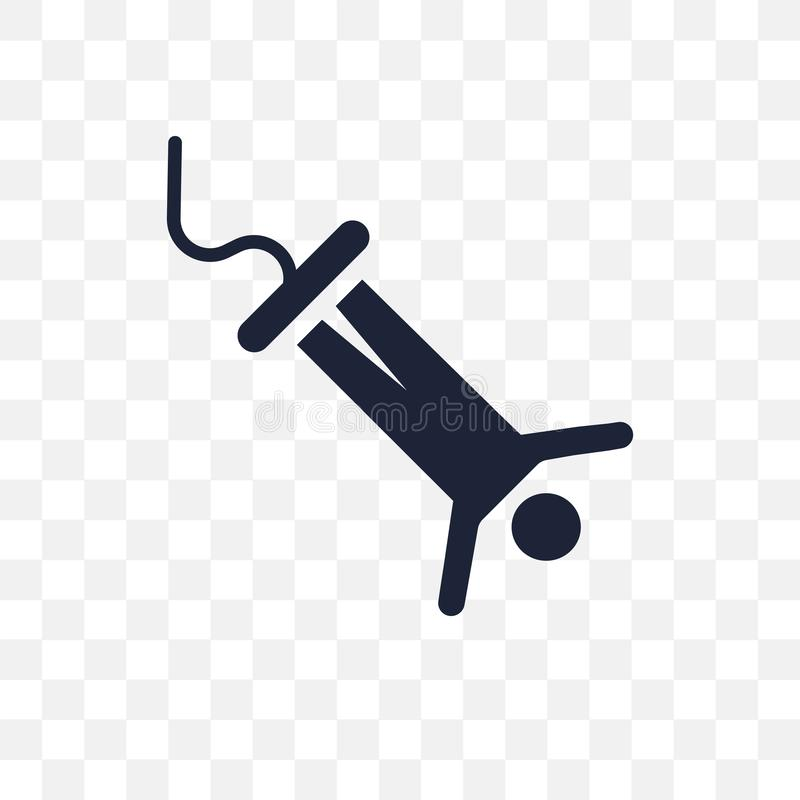 Tirante com mola que salta o ícone transparente Projeto de salto franco do símbolo do tirante com mola ilustração royalty free