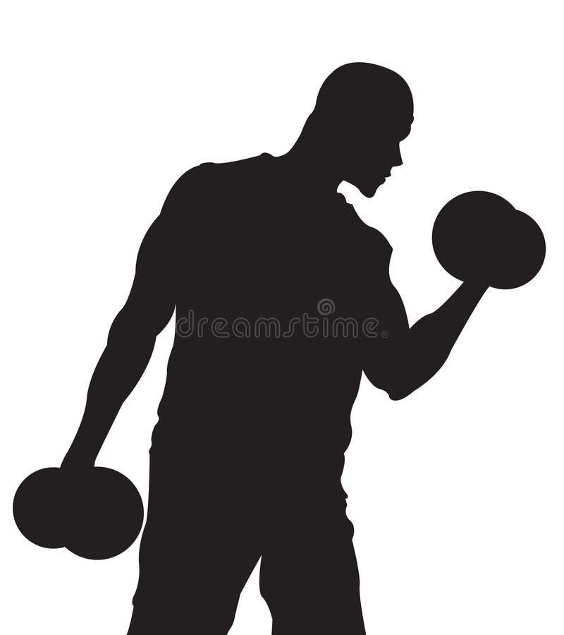 Tirante de peso masculino ilustração do vetor
