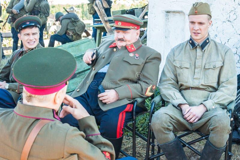 Tirar el ` de la frontera de Ilyinsky del ` de la película en la región de Kaluga de Rusia fotos de archivo libres de regalías