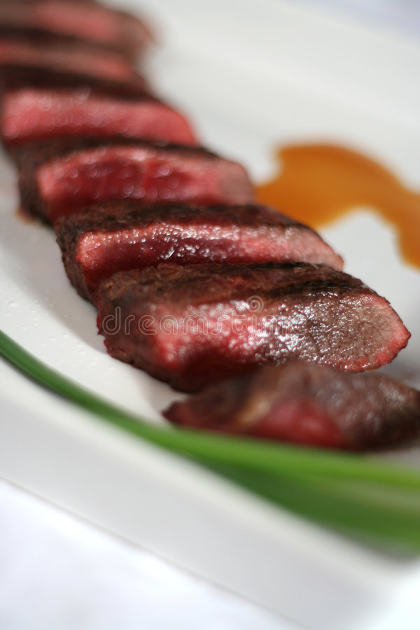 Tiras asiáticas de la carne de vaca foto de archivo