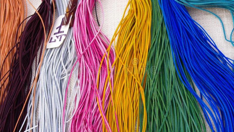Tiras coloridas do couro foto de stock royalty free