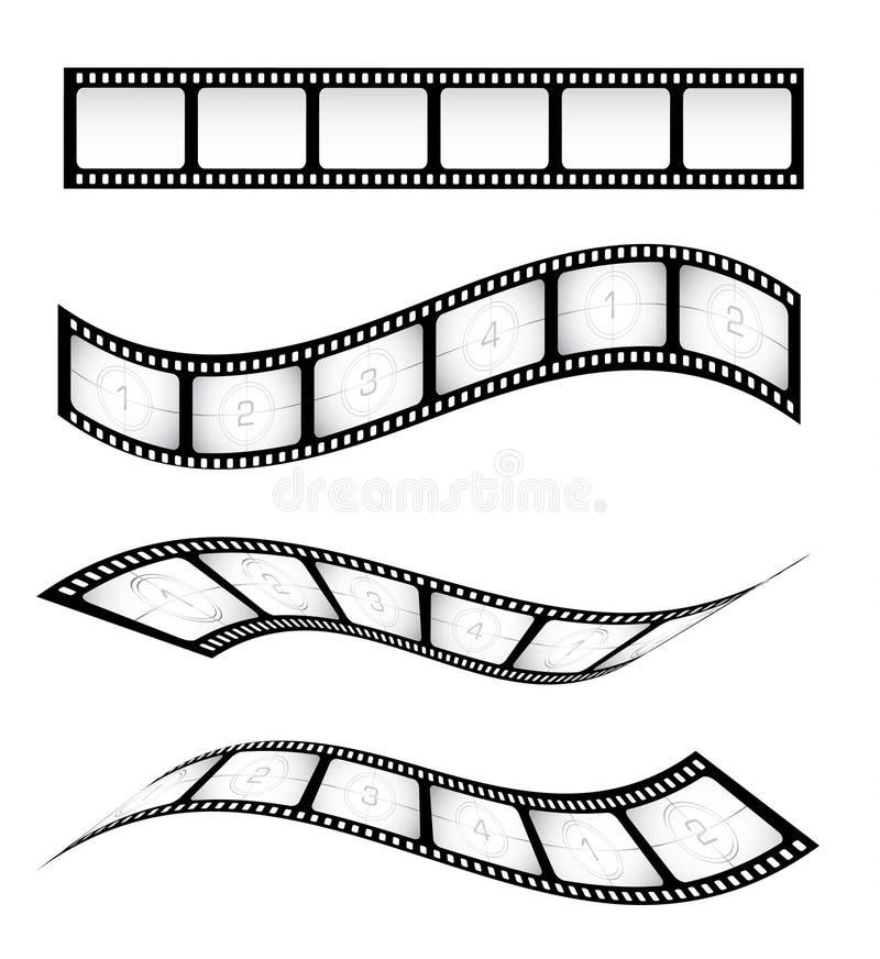 Tiras da película ilustração royalty free