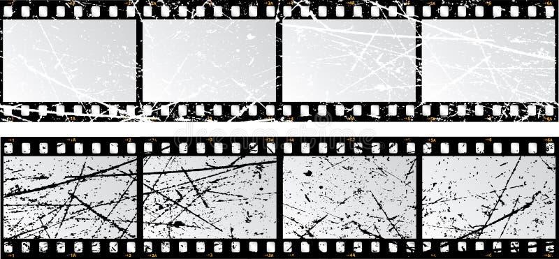 Tiras da película de Grunge ilustração royalty free
