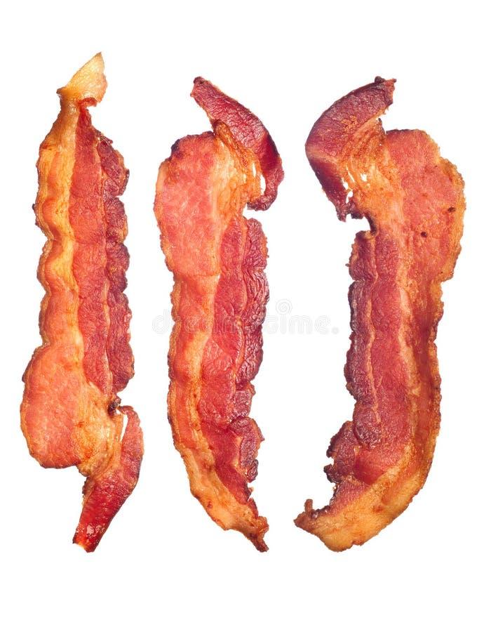 Tiras de bacon cozinhadas imagens de stock royalty free