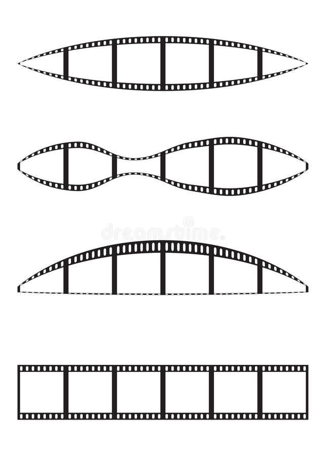 Tiras de la película ilustración del vector
