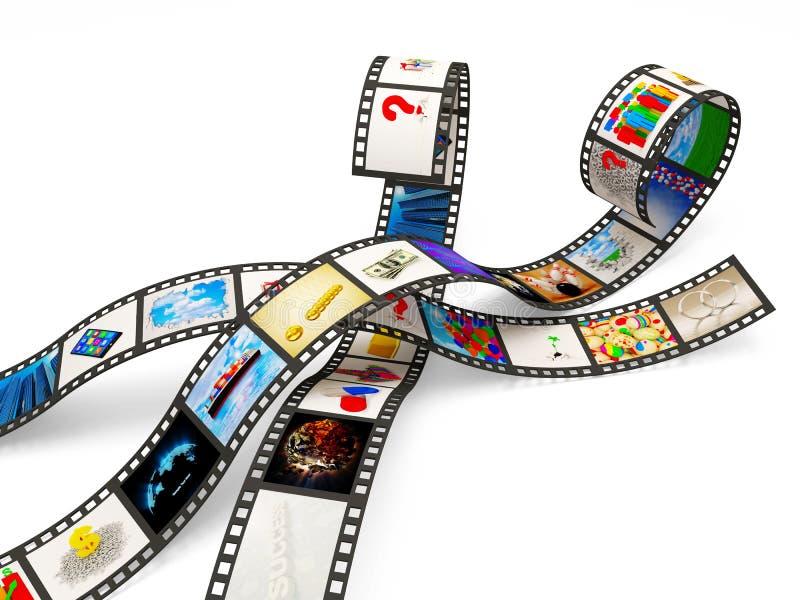 Tiras de la película con imágenes stock de ilustración