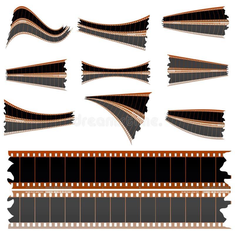 Tiras de la película negativa en blanco libre illustration