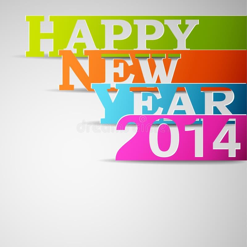 Tiras de papel de la Feliz Año Nuevo 2014 libre illustration