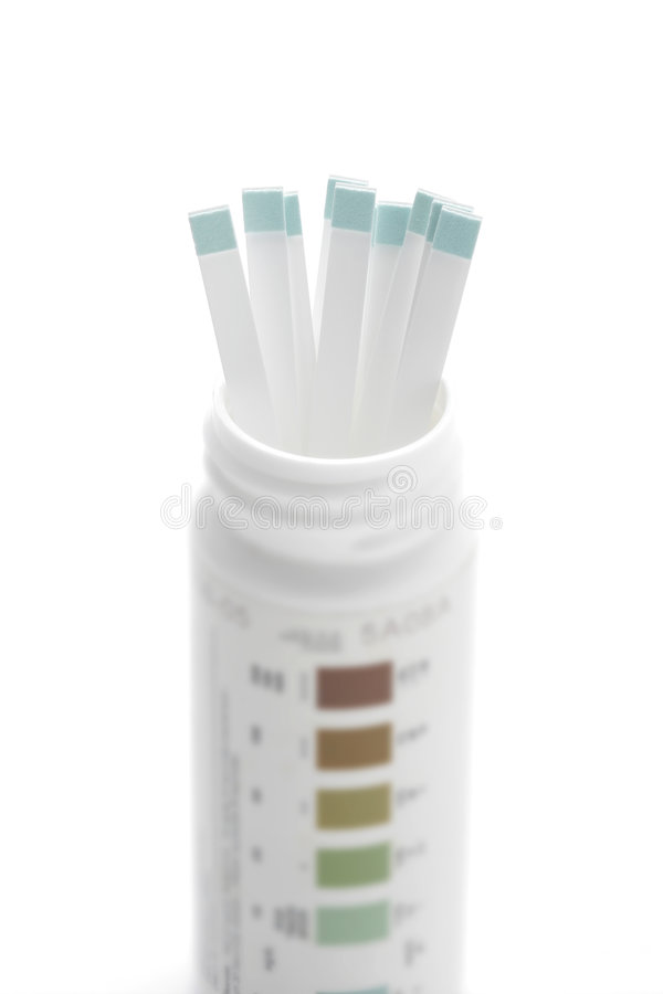 Tiras de prueba de la diabetes fotos de archivo libres de regalías