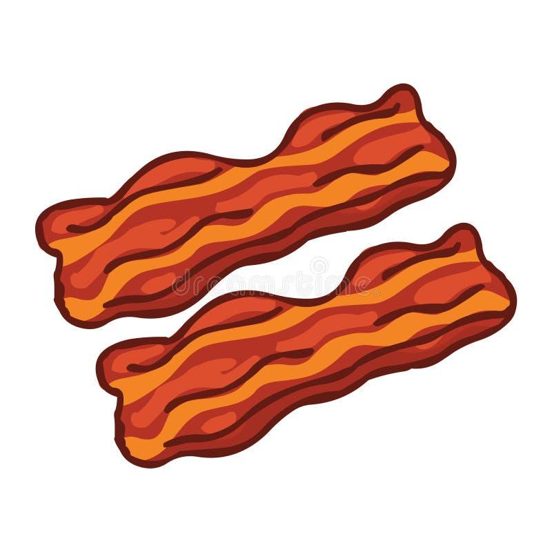 Tiras de tocino Ejemplo de la comida de la carne libre illustration
