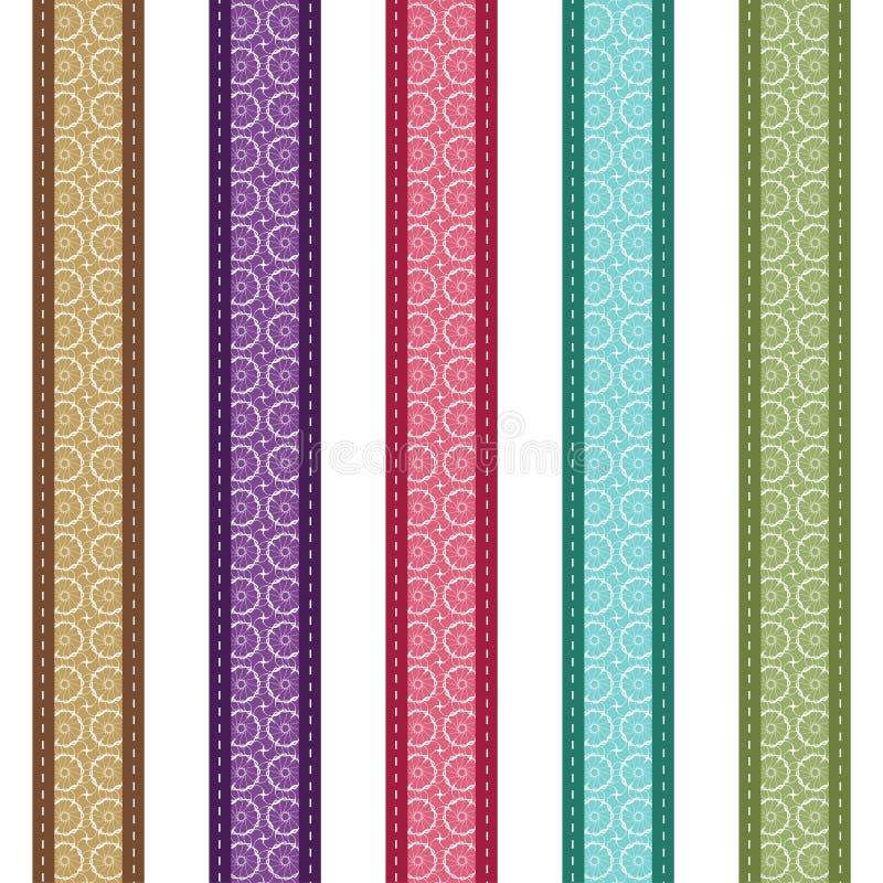 Tiras del cordón del color en el fondo blanco stock de ilustración