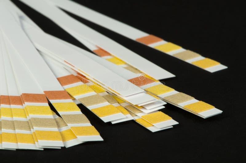 Tiras del tornasol imagenes de archivo