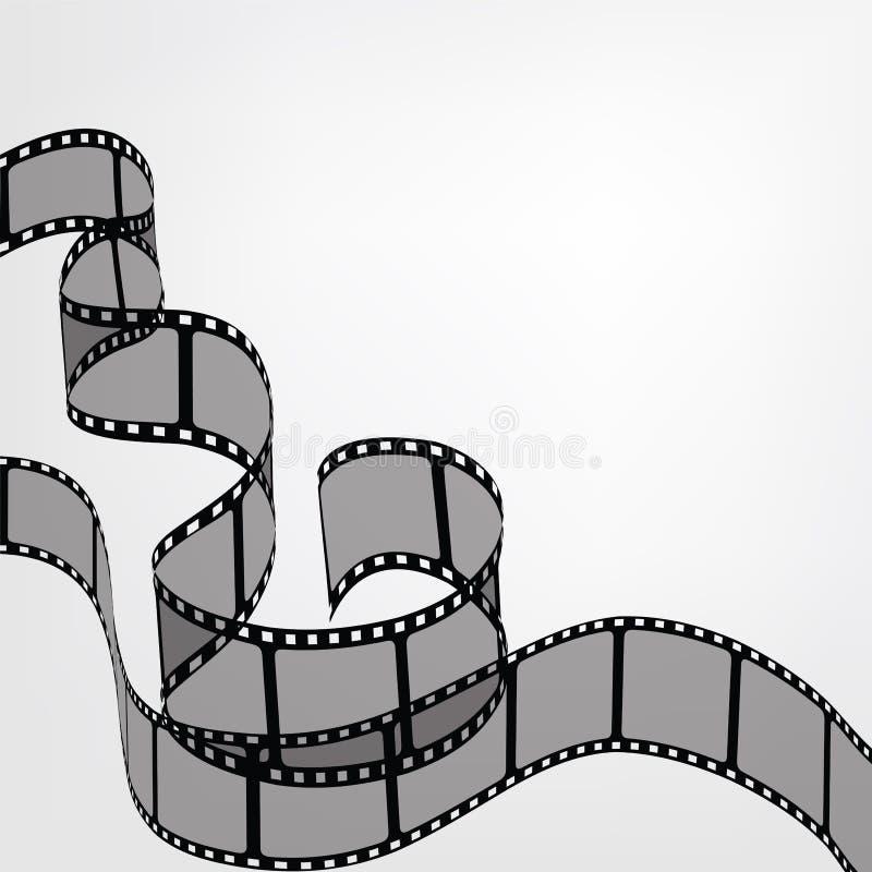 Tiras do filme ilustração royalty free