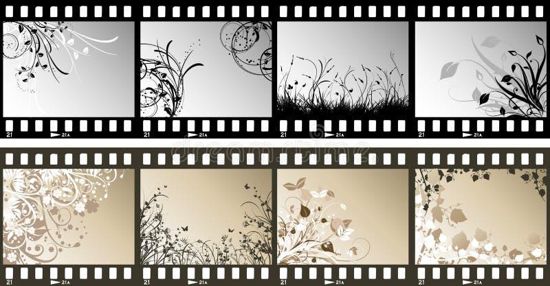 Tiras florales de la película stock de ilustración