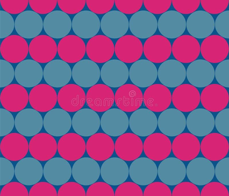 Tiras inconsútiles de círculos Filas de bolas ilustración del vector