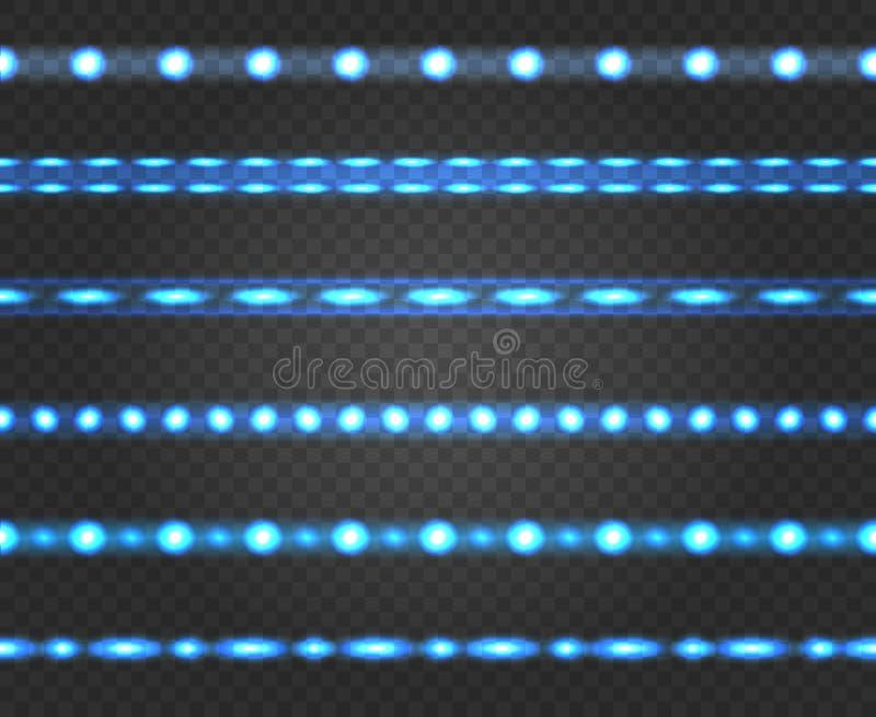 Tiras llevadas de la luz ilustración del vector