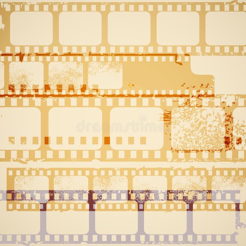 Tiras velhas da película ilustração royalty free