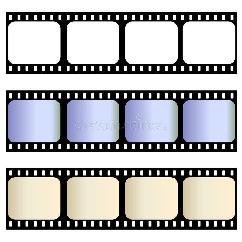 Tiras velhas do filme ilustração stock