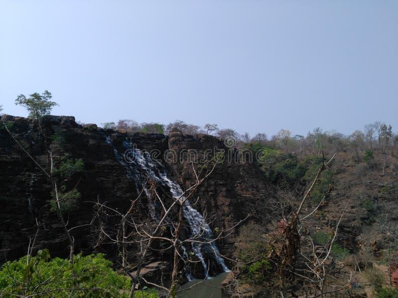 Tirathgarh siklawy, bastar, chattisgarh obraz stock