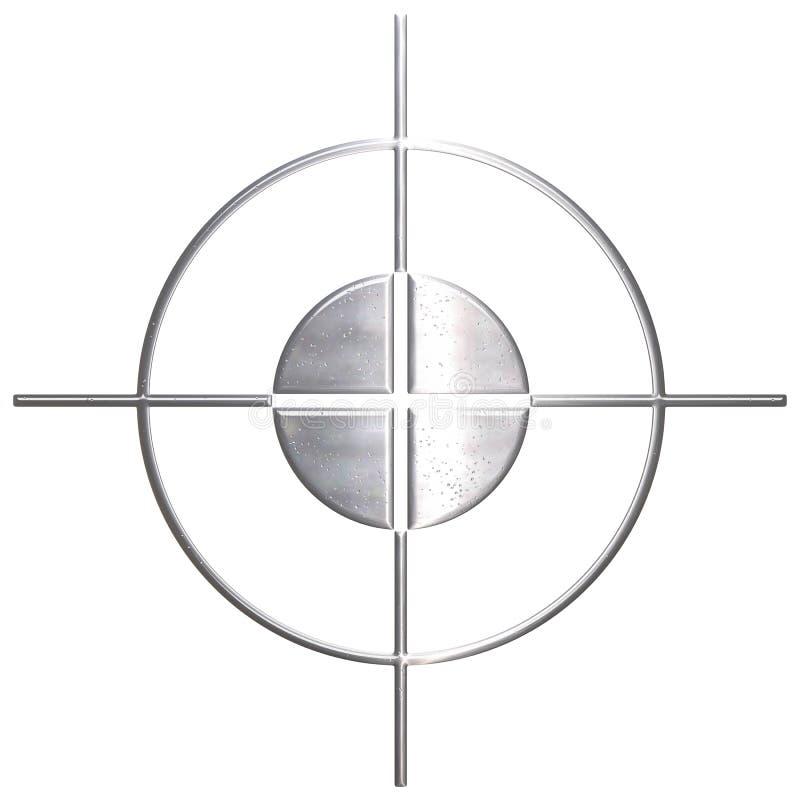 Tiratore franco corroso del metallo illustrazione vettoriale