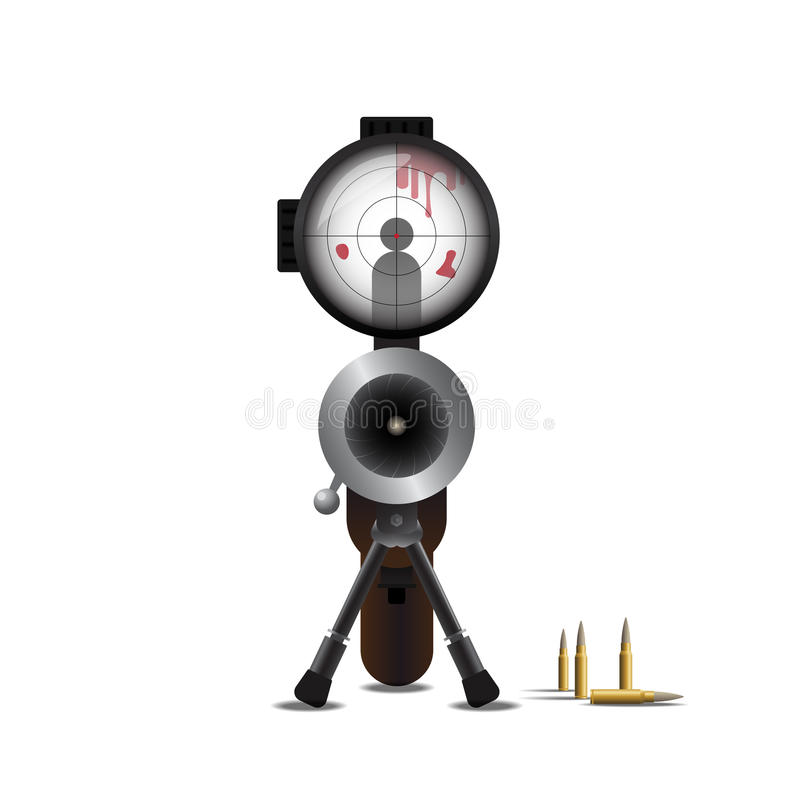 Tiratore franco Killing e pallottola illustrazione vettoriale