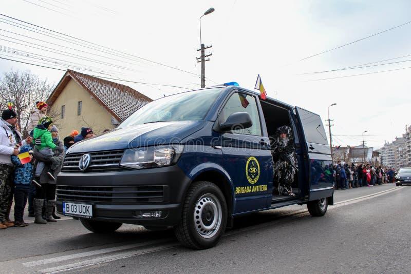 Tiratore franco militare di parata di festa nazionale rumena immagini stock libere da diritti
