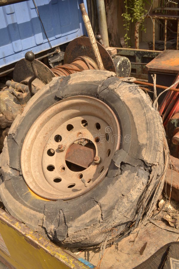 Download Tire blowout stock photo. Image of worst, foul, problem - 26634726