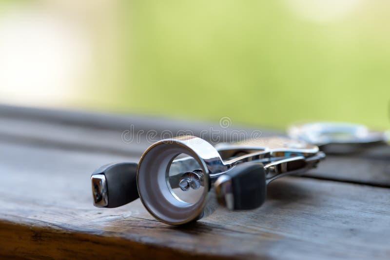 Tire-bouchon brillant en métal photo libre de droits