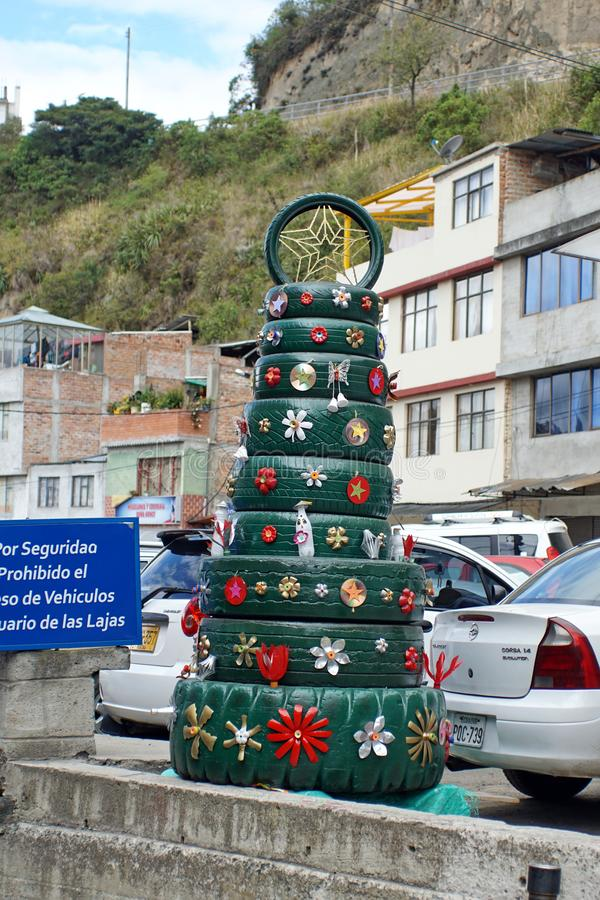 Tire Christmas tree stock images
