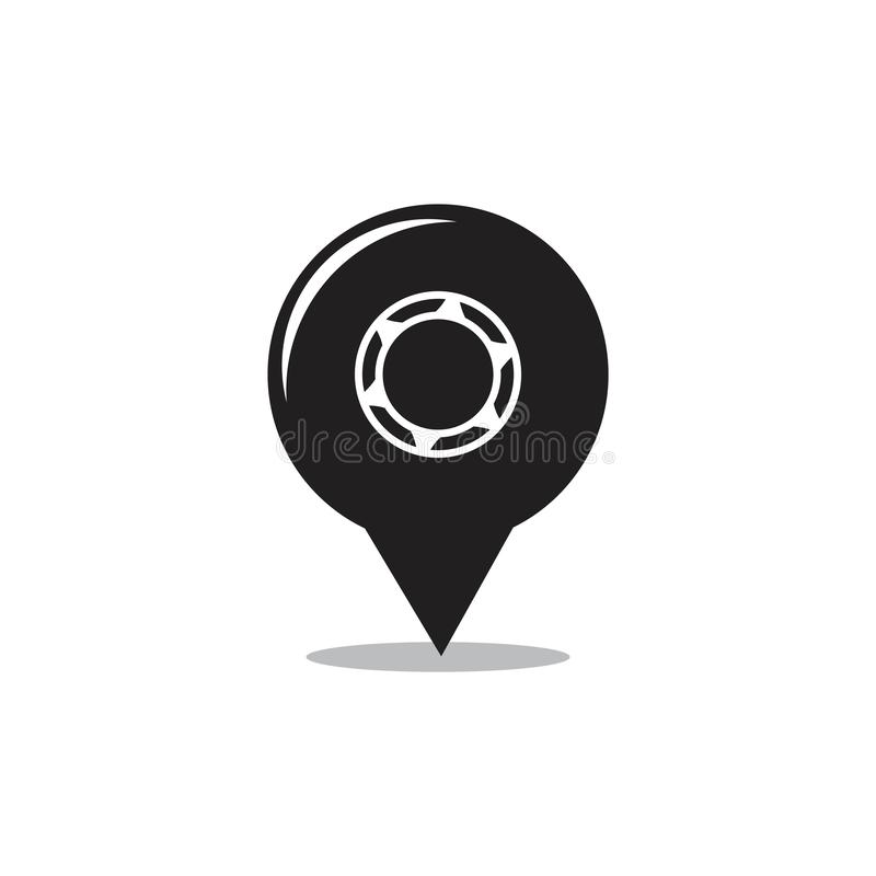 Tire cute pin location logo vector vector illustration