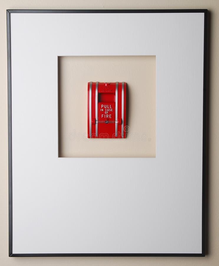 Tire en caso del fuego - enmarcado fotos de archivo libres de regalías