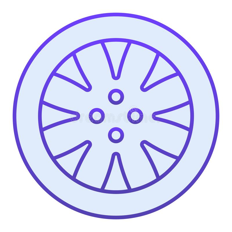 Tire flat icon. Automobile wheel blue icons in trendy flat style. Car part gradient style design, designed for web and stock illustration