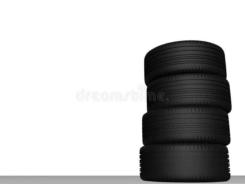 Tire fyra stycken fotografering för bildbyråer