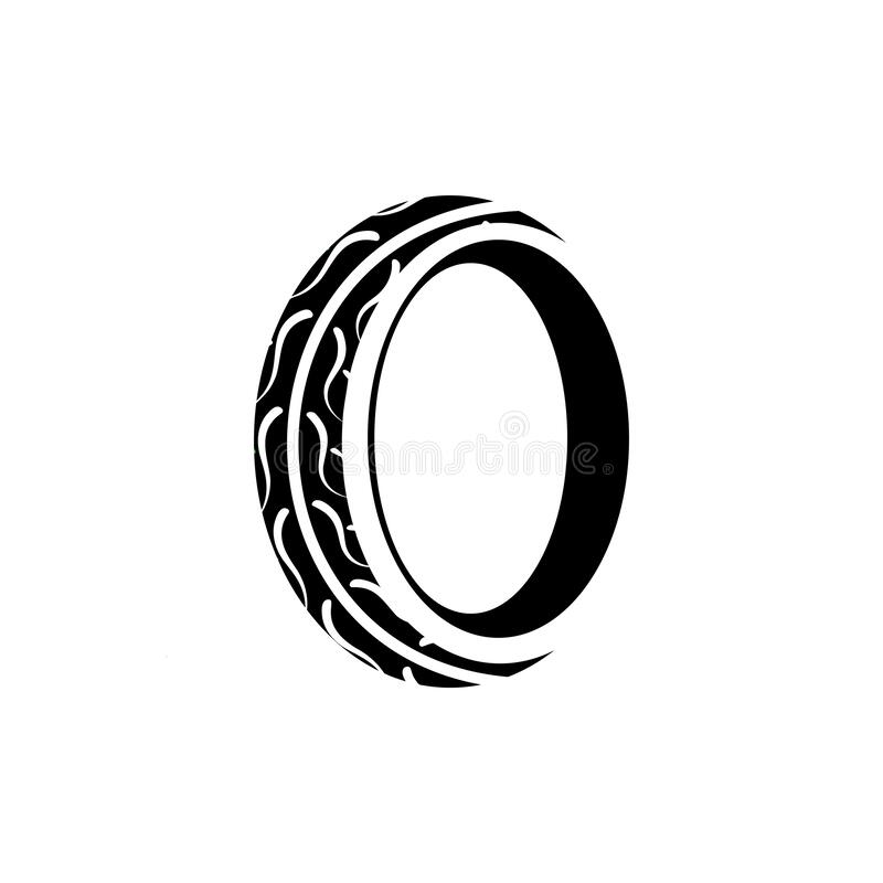 Tire graphic design template vector isolated. Illustration royalty free illustration