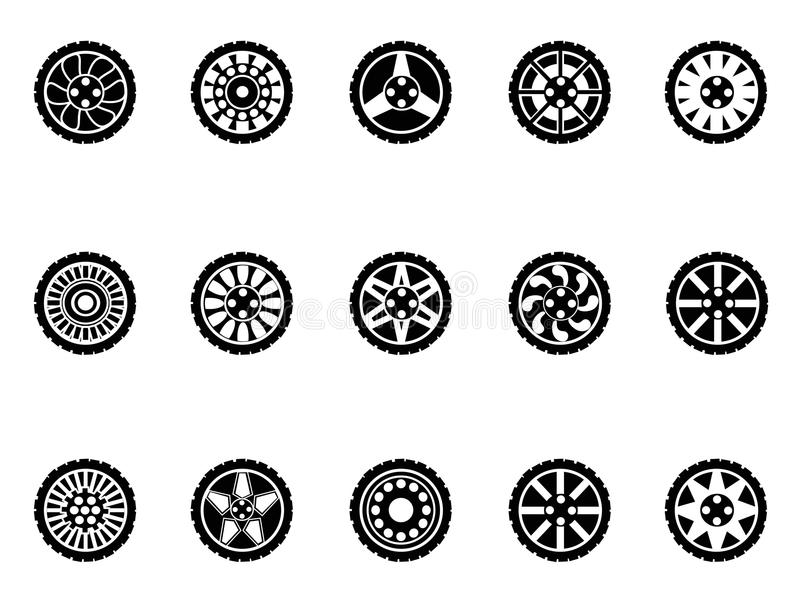 Download Tire icons set stock vector. Image of element, change - 26538867