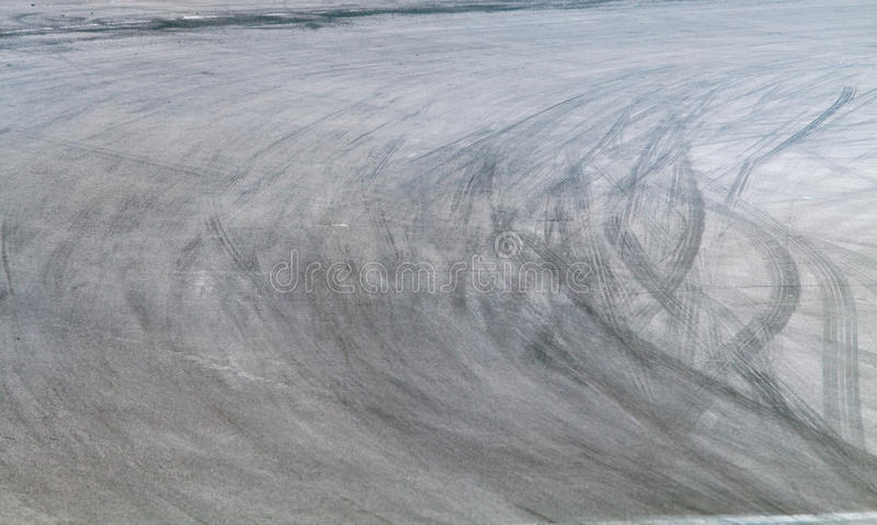 Tire marks on road track royalty free stock photo