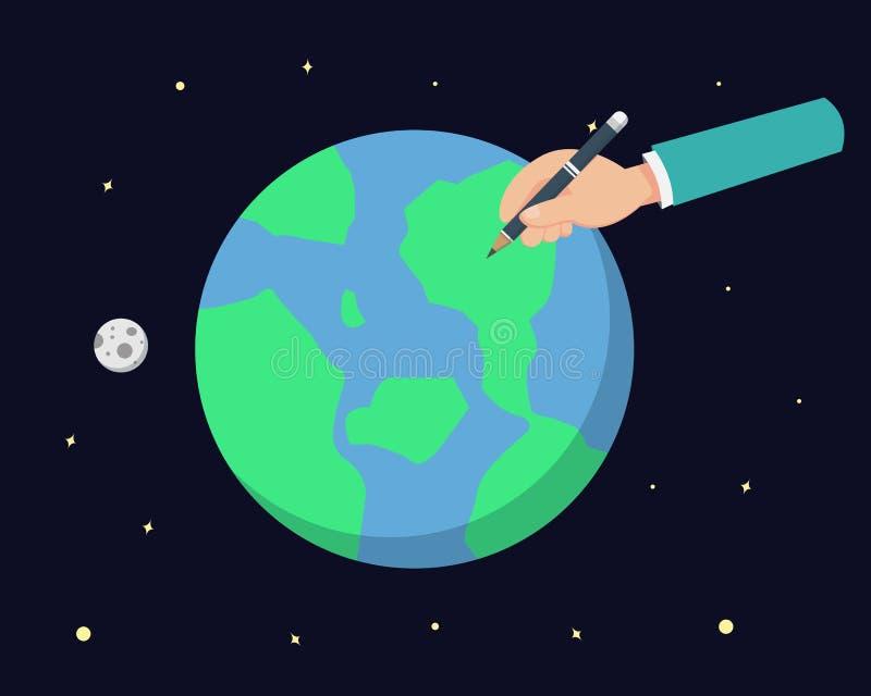 Tire o mundo ilustração do vetor