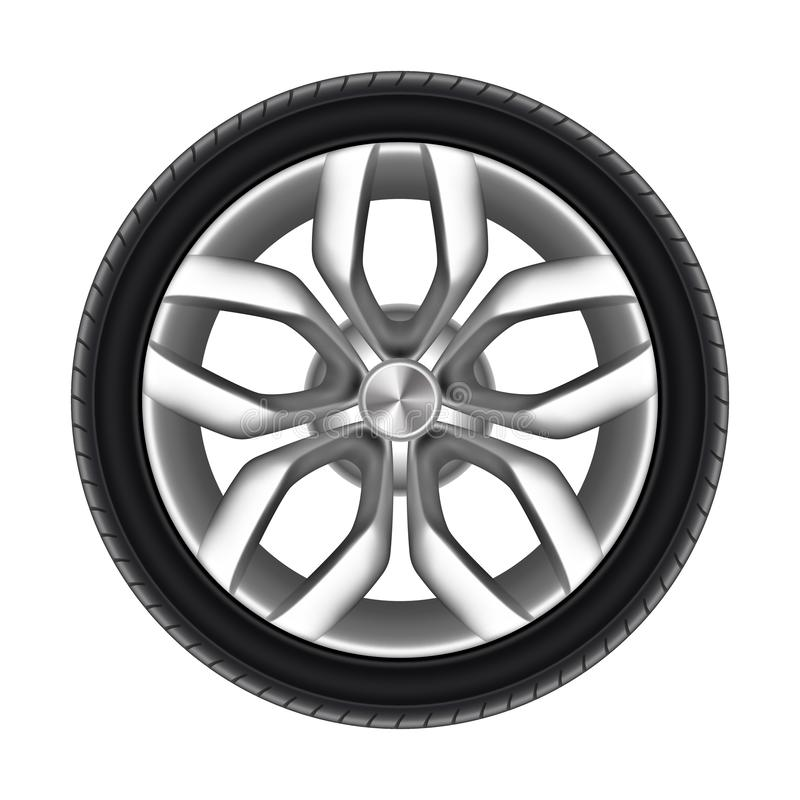 Free Tire Of A Car Isolated. Rubber Tyre Of Truck Royalty Free Stock Image - 159452546