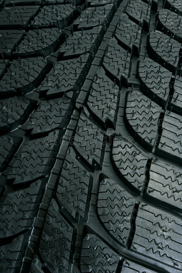 Tire pattern. Brand new tire pattern close-up stock photos