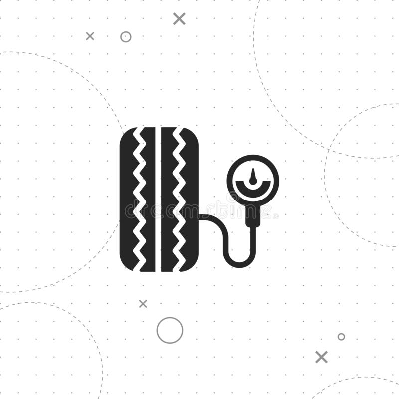 Tire pressure icon stock illustration