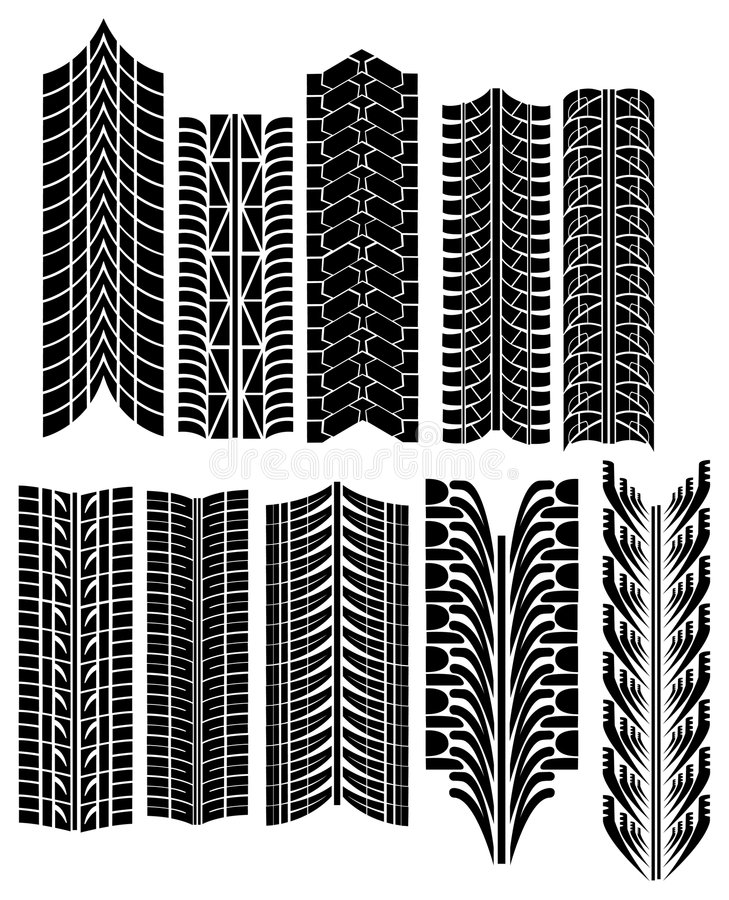 Download Tire prints vector stock vector. Illustration of traction - 5007586