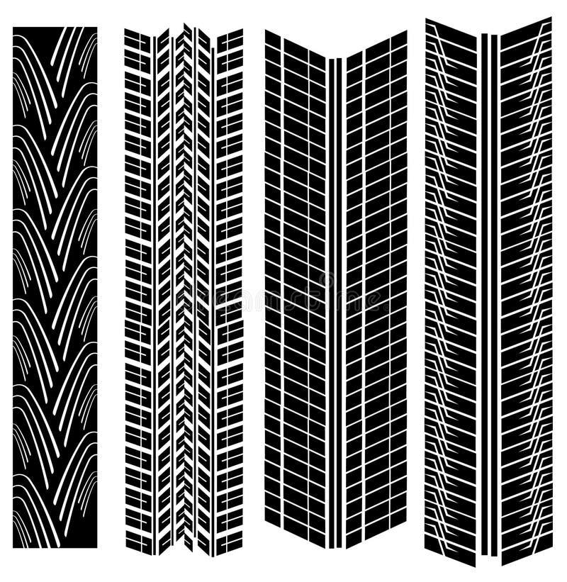 Download Tire prints vector stock vector. Image of pattern, design - 5007757
