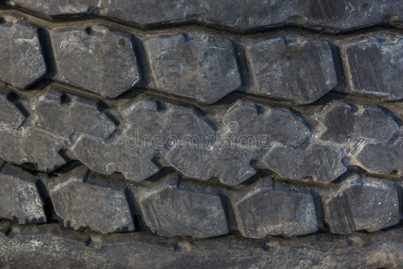 Tire profile in macro closeup, car transport background stock photo