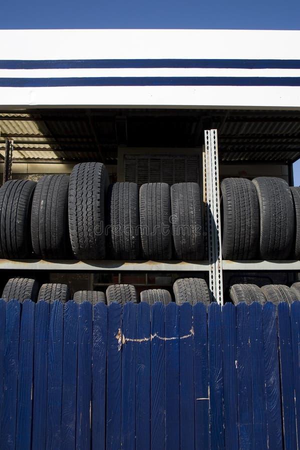 Tire Rack stock photo
